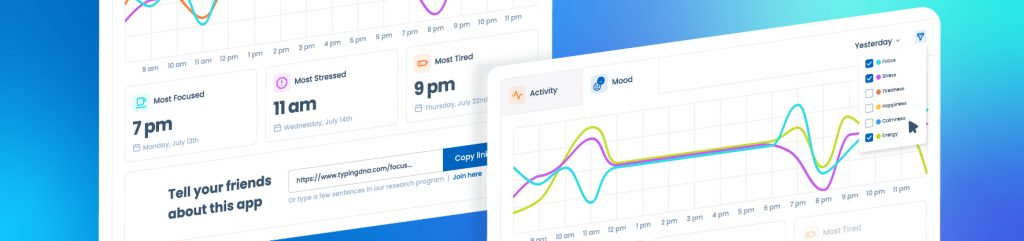 TypingDNA Focus charts explained