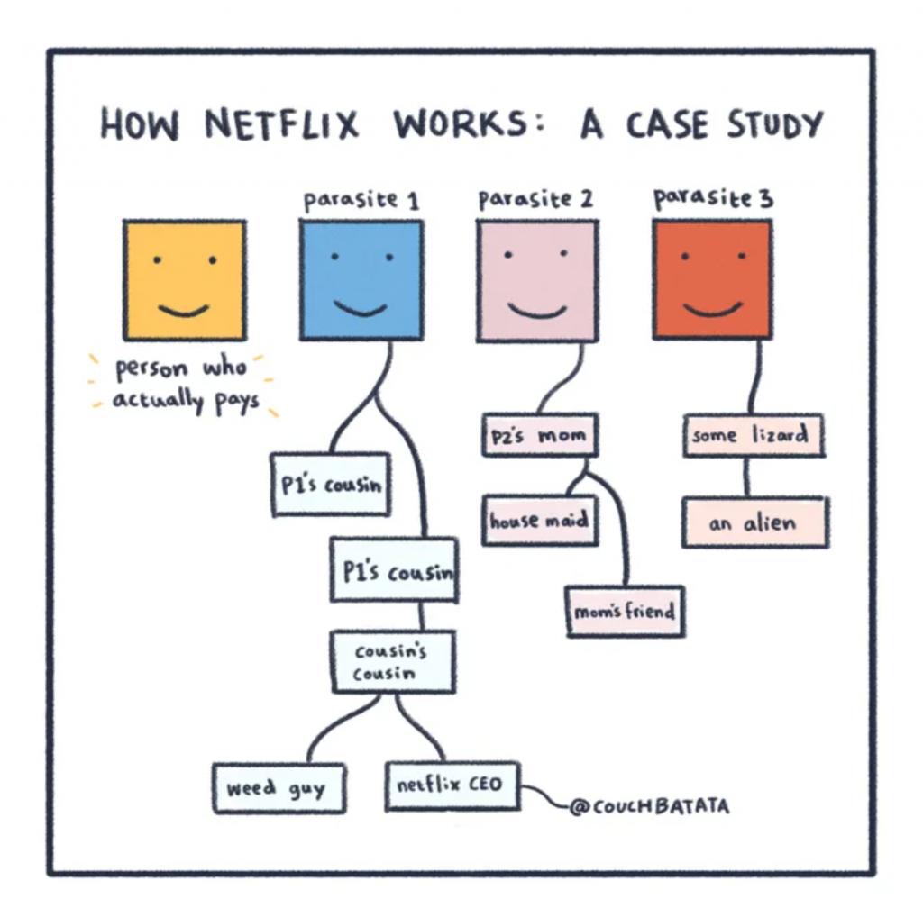 SaaS Account Sharing Example - Netflix Case Study